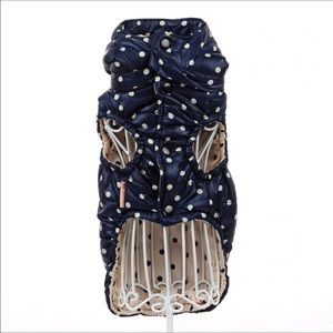 Other - Adorable Blue and White Polka Dot Pet Jacket